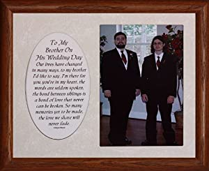 8x10 TO MY BROTHER ON HIS WEDDING DAY ~ Photo & Poetry Frame ~ Holds a ...