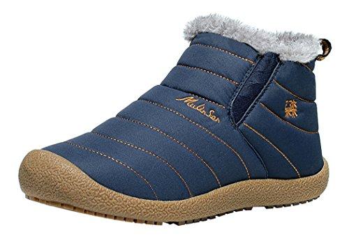 LKPOP MULINSEN Men's Canvas Cotton Shoes Winter Boots