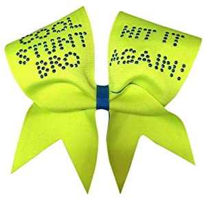 Chosen Bows Cool Stunt Bro Cheer Bow, Neon Yellow
