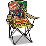 Marvel Comics Vintage Adult Folding Chair with Cup Holder and Carry Bag