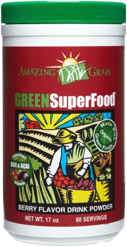 Amazing Grass Berry Flavor Drink Powder-60 Servings