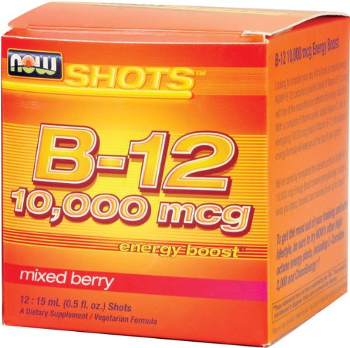 NOW Foods B-12 10,000mcg Shots 12/Box