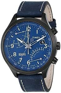 [タイメックス] TIMEX  腕時計 ウォッチ インテリジェントクオーツ レザーバンド クロノグラフ T2P380 10気圧防水 インディグロナイトライト メンズ
