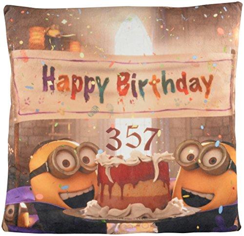 Minions Cuscino Happy Birthday/Dracula Minion 40cm x 40cm