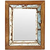 Thar Handicrafts Bangalore Wooden Mirror Frame With Distressed Finish