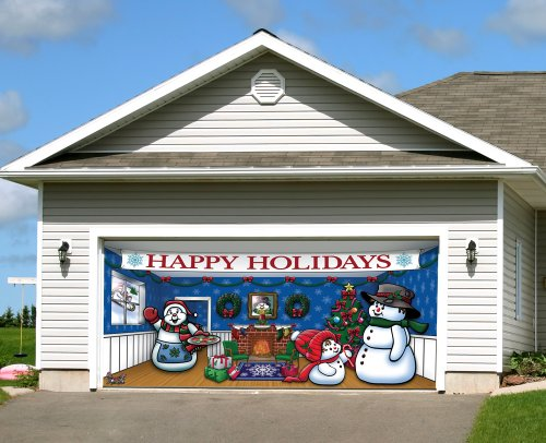 Unusual christmas gifts and decorations for a festive home for Christmas garage door mural