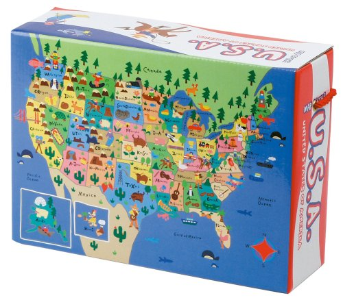Mudpuppy Map of the USA Floor Puzzle - 1