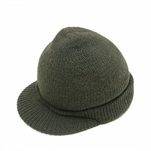 (ダブルアールエル ラルフローレン) RRL DOUBLE RL トラッパー ハット ニット帽 ニットキャップ 1001 オリーブ (ワンサイズ) [並行輸入品]