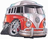 Koolart Car Tax Disc Holder 1601 VW Splitty Camper