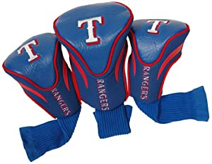 MLB Texas Rangers Contour Head Cover (Pack of 3), Blue by Team Golf