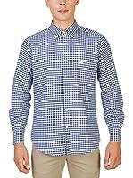 Oxford University Camisa Hombre (Azul)
