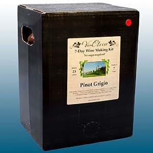 Home Brew & Wine Making - VinClasse® Pinot Grigio White Wine 7 Day Ingredient Kit For 30 Bottles