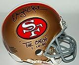 "49ers Dwight Clark The Catch 1.10.82"" Authentic Signed Mini Helmet PSA/DNA"