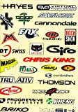 2 pic off-road bike sponsor decals / stickers suit off-road bicycle decorated table