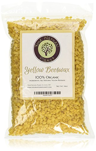 Organic Yellow Beeswax Pellets by Your Natural Planet - 14oz - Tested and Certified 100% Organic