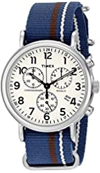 Timex Unisex Weekender Stainless Steel Watch with Interchangeable Band