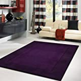 Solid - Blue Violette High Quality Luxurious area rug, Dark Violet, Purple Transition Solid Color Rug~ 5 x 7 hand made ON SALE!