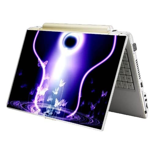 Bundle Monster MINI NETBOOK Laptop Notebook Skin Sticker Cover Art Decal   7 8 9 10   Fit HP Dell Asus Acer Eee Compaq MSI   Butterfly Pond