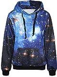 Pandolah Galaxy Colorful Patterns Print Athletic Sweaters Fashion...