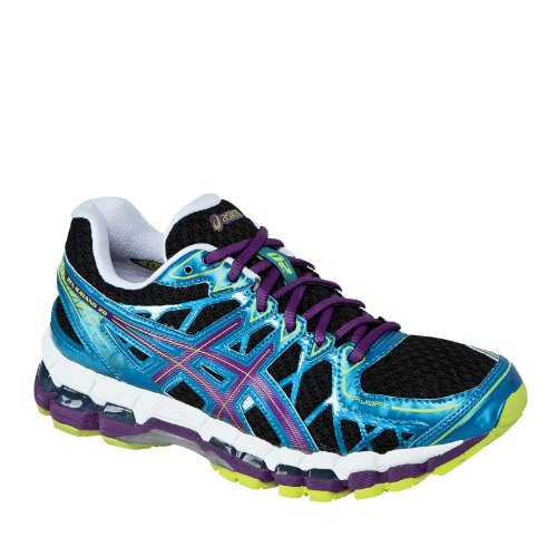Asics Women'S Gel Kayano 20 Running Shoe,Black/Plum/Blue,7 D Us