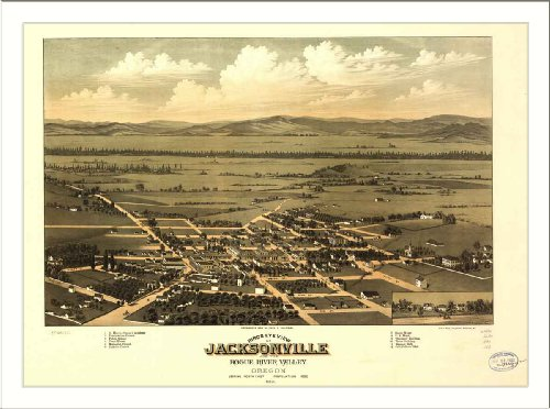 Historic Jacksonville, Oregon, c. 1883