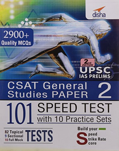 CSAT Paper 2 IAS Prelims 101 Speed Tests Practice Workbook with 10 Practice Sets