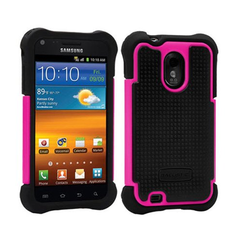 Ballistic SA0774-M365 Case for Samsung Epic Touch 4G – 1 Pack – Retail Packaging – Black Silicone/Black TPU/Pink PC image