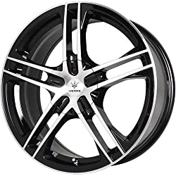 Verde Protocol 17 Black Wheel / Rim 5×4.5 & 5×5 with a 40mm Offset and a 74.1 Hub Bore. Partnumber V36-775540B