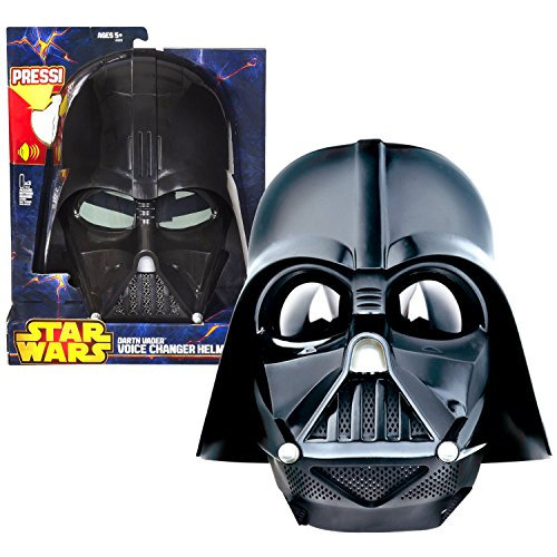 Hasbro Year 2013 Star Wars Series Electronic Accessory Set - Darth Vader Voice Changer Helmet With Voice Changer Button And Sound Button And Adjustable Strap