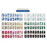 CICI&SISI Nail Art Nail Wraps 54 Creative Fashionable Nail Designs 6 Packs of Nail Stickers CSNW15-01