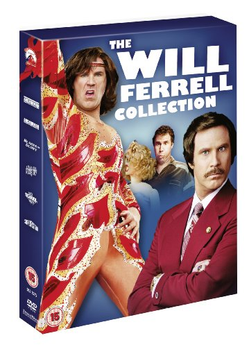 Will Ferrell Collection (Anchorman: The Legend Of Ron Burgundy, Anchorman: Wake-Up Ron Burgundy, Old School, Blades Of Glory, A Night At The Roxbury, [Edizione: Regno Unito]