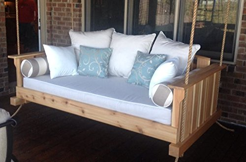 "Porch Swing: The ""Daniel Island"" Swing Bed - Free Shipping (Bedswing) (Bare Cedar)"