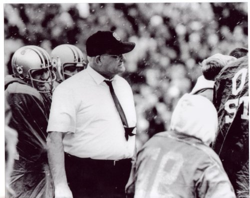 Woody Hayes (In the Snow) Ohio State Buckeyes 8x10 Photo #3 - Mint Condition
