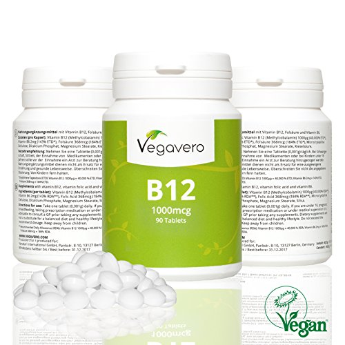 vitamin b12 1000 g methylcobalamin testsieger 2015 komplex mit b6 b9 fols ure. Black Bedroom Furniture Sets. Home Design Ideas