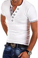 MT Styles - BS-524 - T-shirt avec col en V boutonné