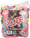 Pepperell Craft Making Assorted Pom Poms Standard Colors