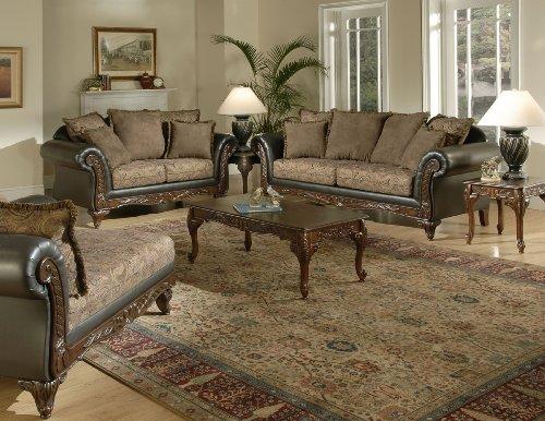 Serta Upholstery Fabric San Chocolate / Raisin Chaise 1