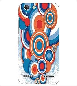 PrintDhaba Circular Pattern D-5293 Back Case Cover for LENOVO VIBE K5 PLUS (Multi-Coloured)