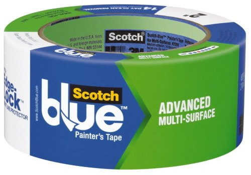 "3M Scotch-Blue 2093 Advanced Multi-Surface Painters Masking Tape With Edge-Lock, 60 Yds Length X 2"" Width, Blue back-1069689"