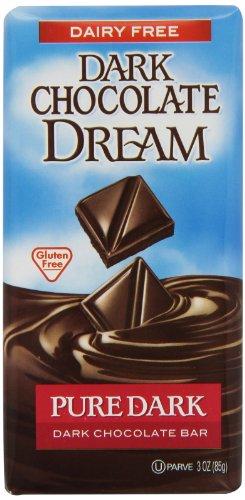 Dark Chocolate Dream Dark Chocolate Bar, Pure Dark, 3 Ounce (Pack Of 12)