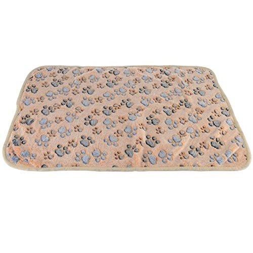 Healthy-Clubs-1-x-Pet-Bed-Supplies-Tierbett-Lieferungen-Pfoten-Print-warmen-Hund-Welpe-Katze-weiche-Decke-Matte