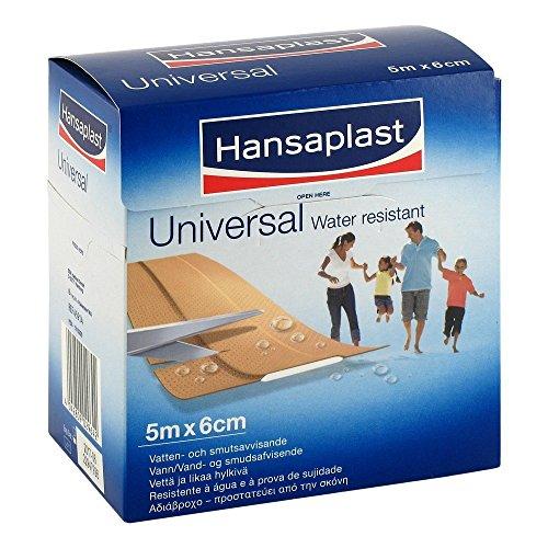 Hansaplast Universal Pflaster Waterresistent 6 cmx5 m Rolle,