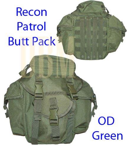 Molle Tactical Recon Patrol Butt Pack Bag OD Green