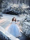 (ニニモール)Ninimourシンデレラコスプレ衣装コスチューム プリンセス子供ドレスキッズワンピース ブルー 110-150cm(110cm,ブルー)