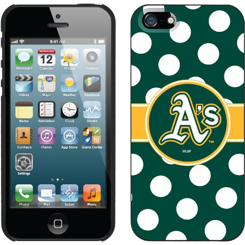 Great Sale Oakland Athletics - Polka Dots design on a Black iPhone 5 Thinshield Snap-On Case by Coveroo