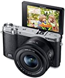 Samsung NX3000 Wireless Smart 20.3MP Compact System Camera with 16-50mm OIS Power Zoom Lens and Flash (Black)