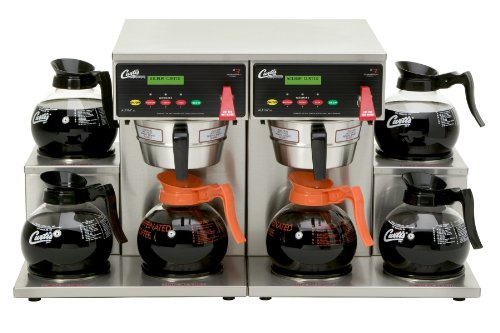 Wilbur Curtis G3 Alpha Decanter Brewer 64 Oz Coffee Brewer, Dual Voltage, 6 Station Twin 6 Lower Warmers - Commercial Coffee Brewer  - ALP6GT63A000 (Each)