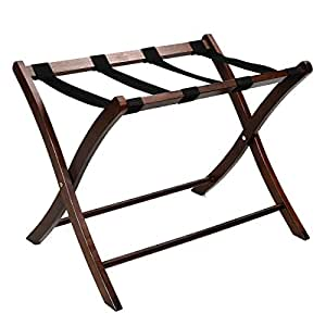 FDS Folding Solid Wooden Luggage Suitcase Stand Rack Hotel