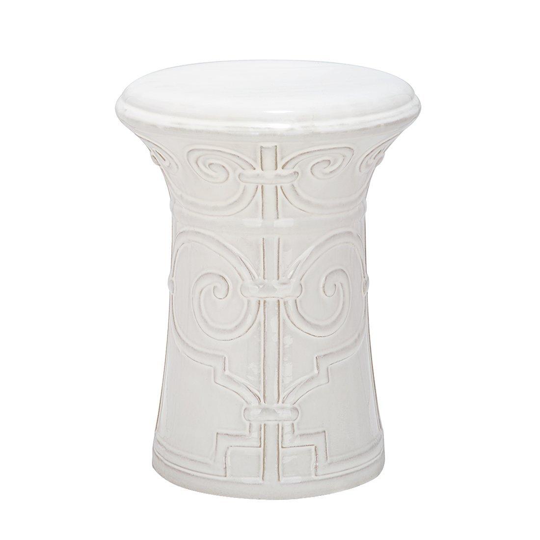 Gartenhocker Imperial Scroll Farbe: Weiß