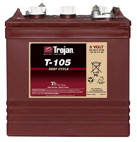 Trojan Trojan 6 Volt Battery T-105 (Trojan Golf Cart Batteries compare prices)